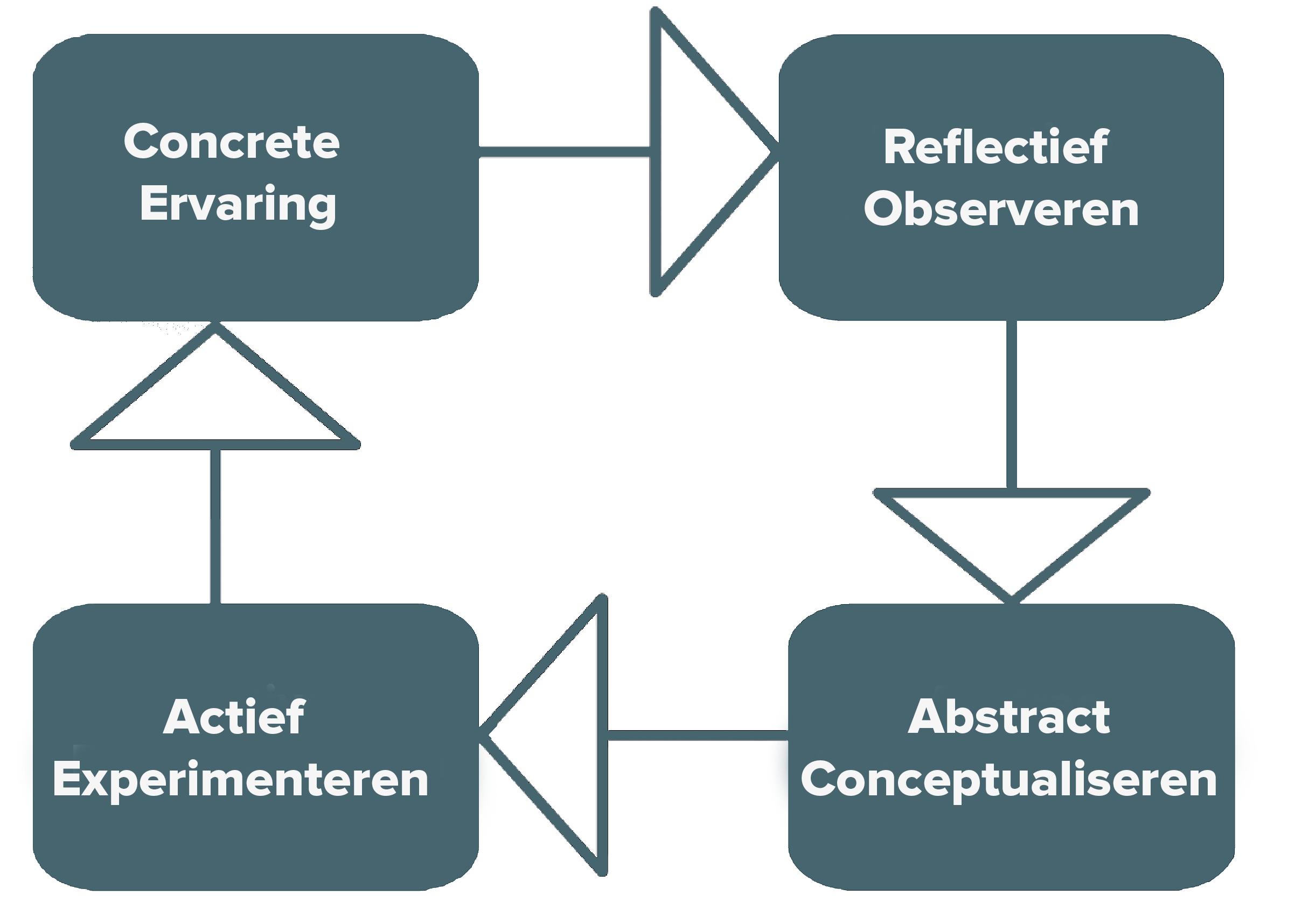 Kolb leren vier fases