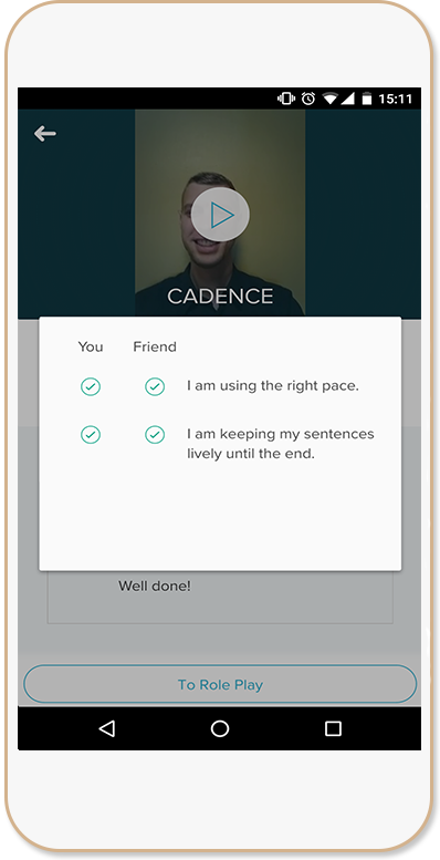 video role play feedback