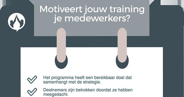 Checklist: motiveert jouw training je medewerkers?